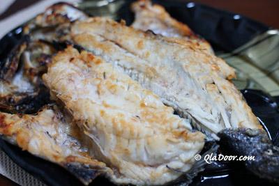 釜山民楽刺身センターで調理してくれた魚