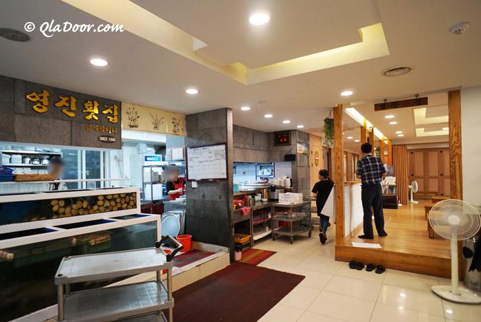 釜山民楽刺身センターの2階食堂