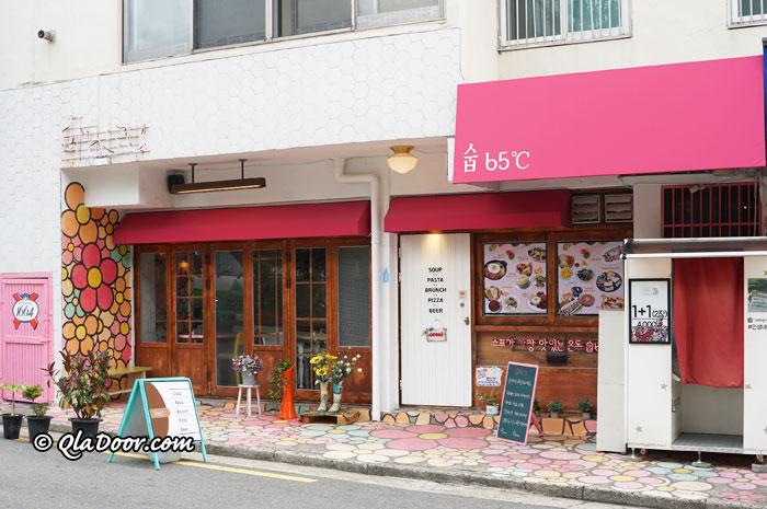 釜山田浦カフェ通りのスープ専門店