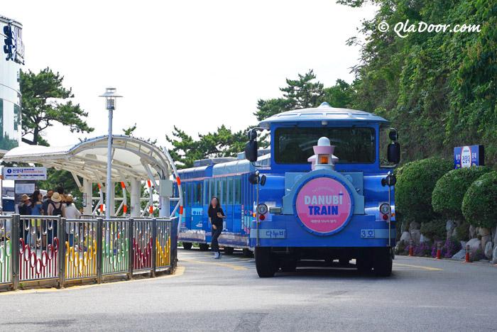 釜山・太宗台(テジョンデ)のダヌビ列車