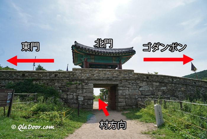 金井山城周辺の登山マップ