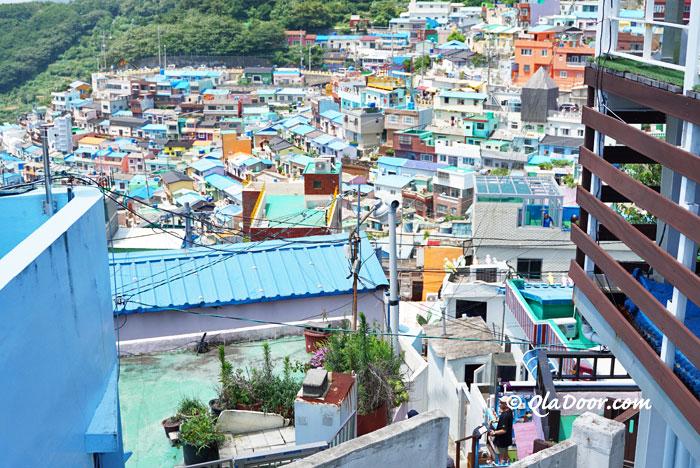 甘川文化村の景色