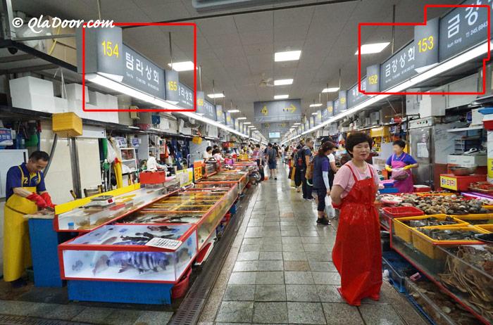 釜山チャガルチ市場のおすすめのお店