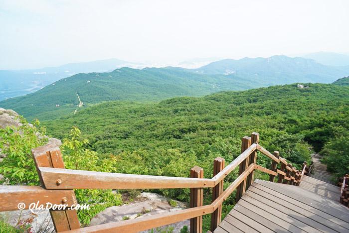 釜山金井山城・北門方向の景色