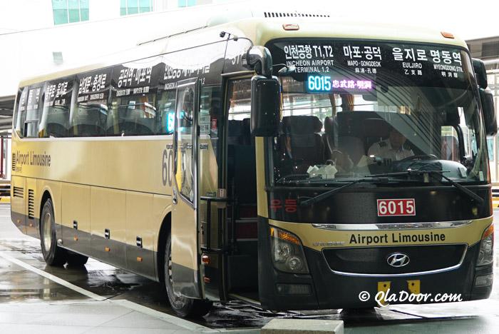 仁川空港から明洞とソウル行きの高級リムジンバス