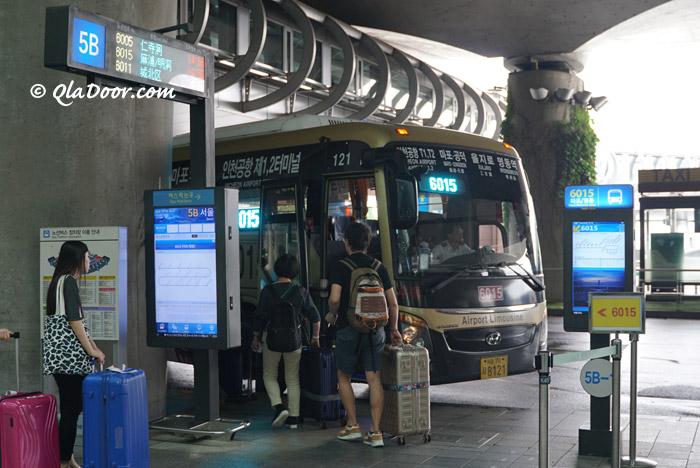 仁川空港からソウル駅と明洞行きのリムジンバス乗り場