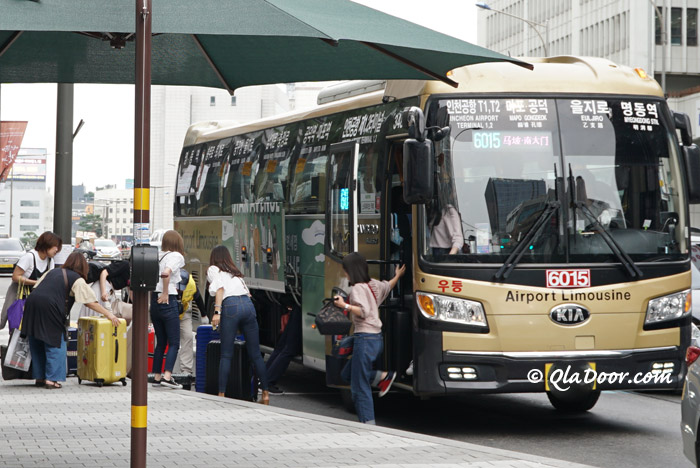 明洞から仁川空港までのリムジンバス乗り場