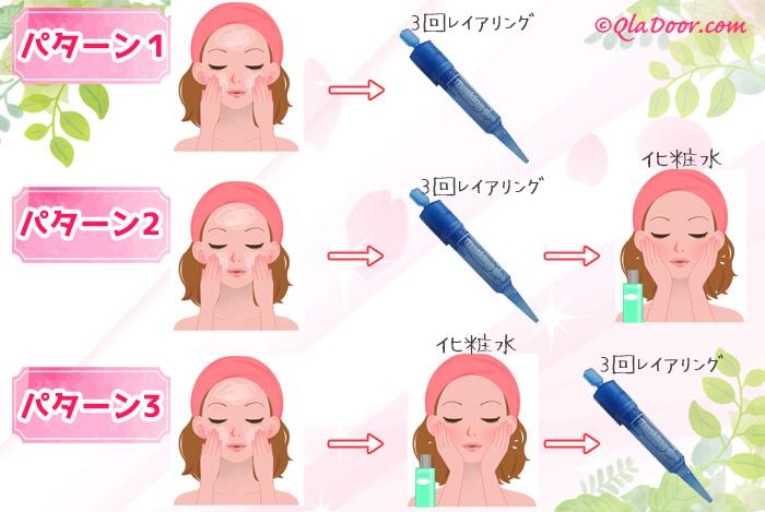 メディヒールアンプルショットの使い方と化粧水の順番