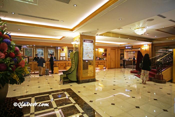 コスモスホテル台北の予約ロビー