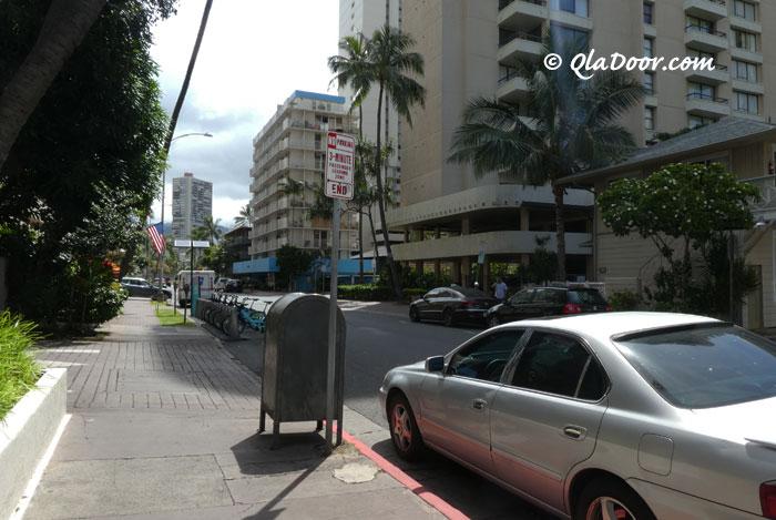 ハワイの治安と安全・ワイキキ裏通り