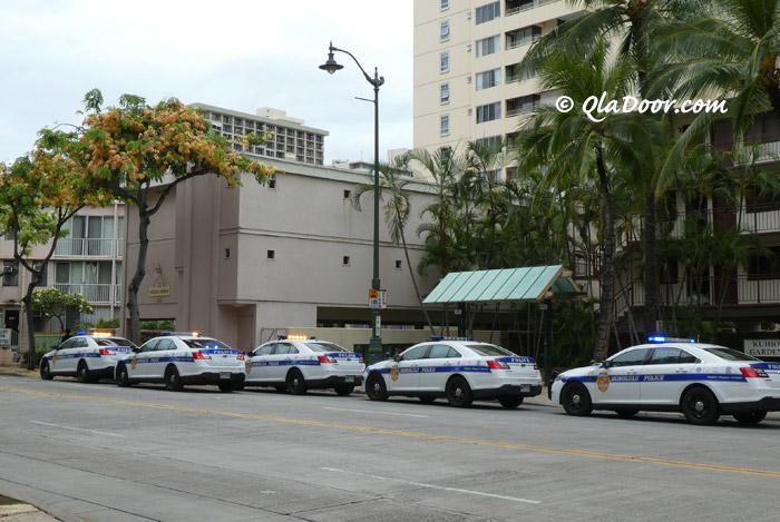 ハワイの治安の悪い地域とパトカー