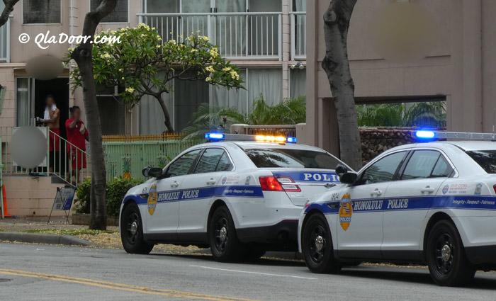 ハワイの治安と警察写真