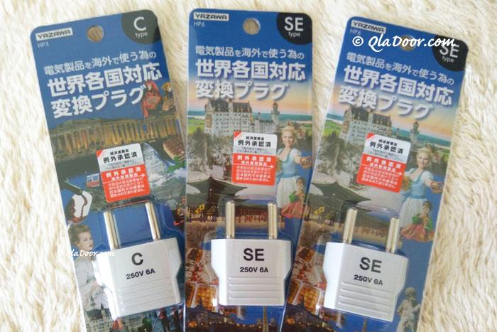 韓国旅行の持ち物・se型のコンセントプラグ