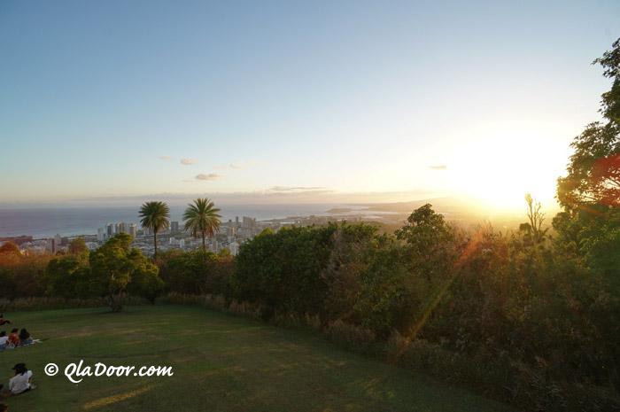 ハワイ・タンタラスの丘のサンセット・夕焼け