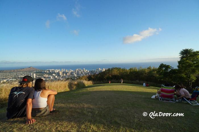 ハワイ・タンタラスの丘のお昼の景色
