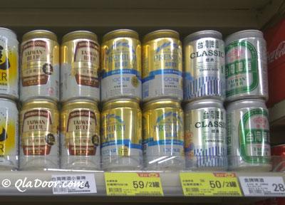 台湾のビールは度数が低く女性も飲みやすい