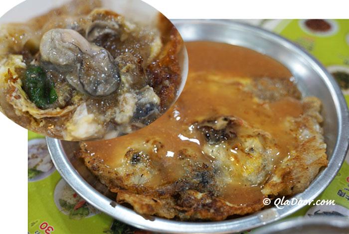 台湾の料理と食事・牡蠣のオムレツ「蚵仔煎」