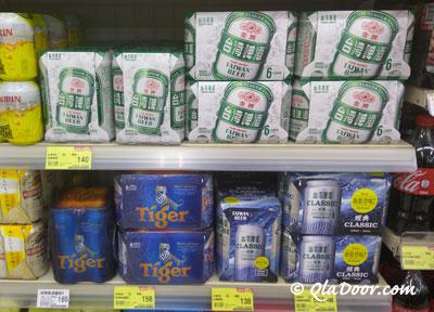 台湾のスーパーマーケットで売っているビール