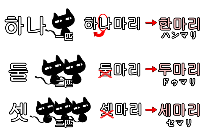 韓国語の数字の読み方と数え方