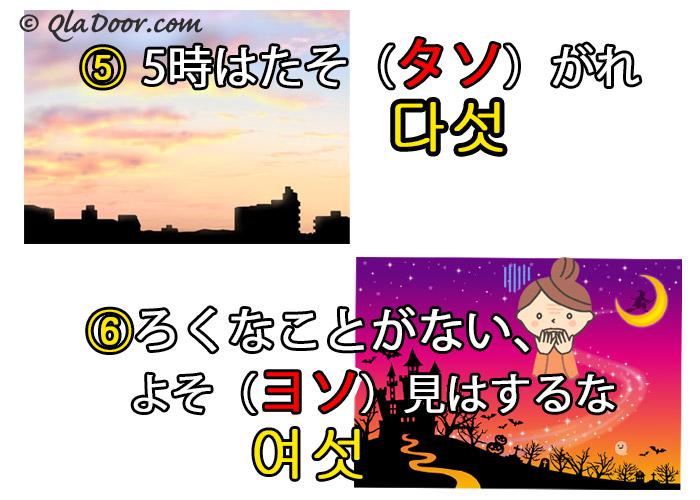 韓国語数字のイメージの連想と語呂合わせで簡単に覚え方