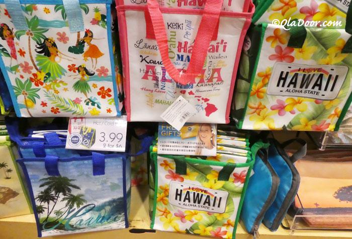 ハワイのお土産・女子におすすめのばら安い・ばきできるエコバッグ