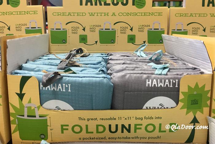 ハワイのお土産ホールフーズマーケットのエコバッグ
