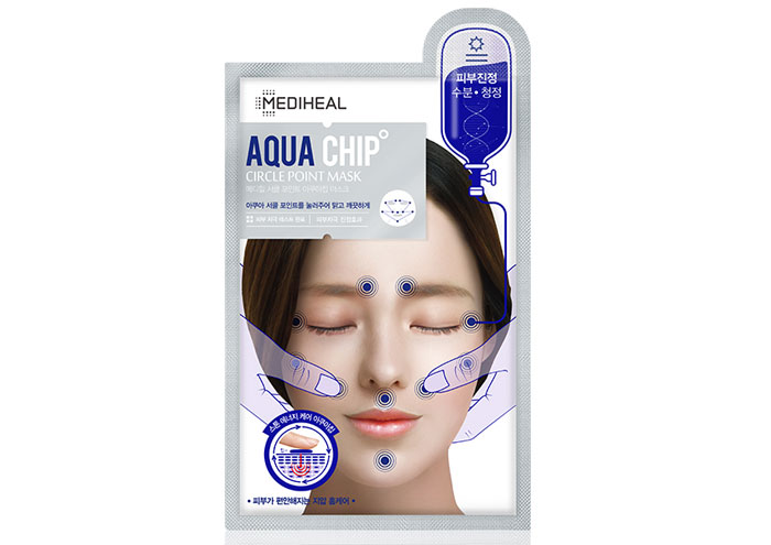 メディヒールのパック種類・サークルポイント・アクアチップマスク(パッケージ色:青)