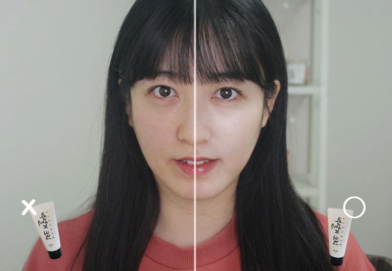 韓国コスメ・シロモチクリーム(ペクソルギ)の効果と比較写真